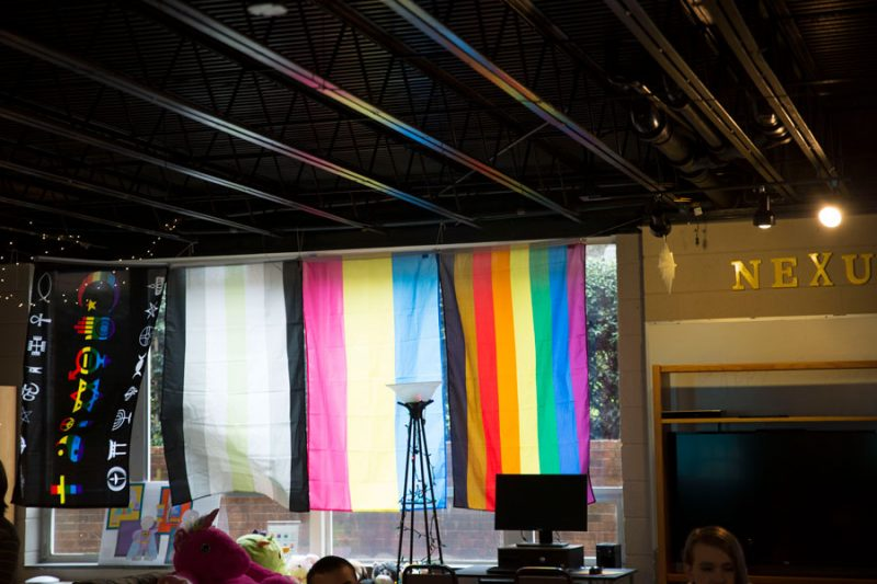 lgbtq flags at the uplift outreach center