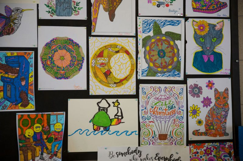 artwork created by youth at uplift outreach center
